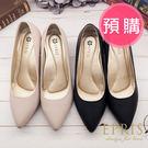 預購 MIT小中大尺碼尖頭鞋推薦 點點紋方跟鞋 21.5-26 EPRIS艾佩絲