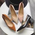 668+G 愛麗絲的最愛 韓版時尚簡約粗跟高跟鞋中跟鞋/上班鞋 (現貨+預購)