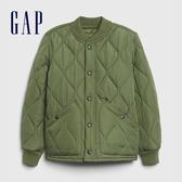 Gap男童 復古風格絎縫工藝外套 592738-綠色