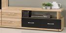 【森可家居】華盛頓4.6~7.2尺伸縮電視櫃 7ZX376-4 長櫃 木紋質感 工業風 限量超值折扣