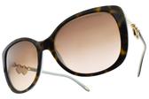 Tiffany&CO.太陽眼鏡 TF4129 81343B (琥珀棕-金) 奢華愛心鎖鏈款 # 金橘眼鏡