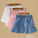 女童半身裙 童裝女童牛仔裙新款兒童洋氣裙子小女孩夏季短裙寶寶半身裙潮 韓菲兒
