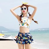 分體裙子式泳衣新款韓國比基尼三件套小胸聚攏沙灘度假女顯瘦性感 東京衣櫃