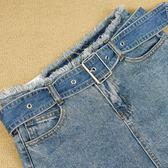 聖誕繽紛節❤牛仔腰帶女 裝飾半身裙短褲寬款皮帶 簡約時尚針扣褲帶韓版布帶