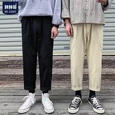 秋季大碼休閒褲工裝褲男士加肥胖子直筒九分褲韓版男【英賽德3C數碼館】