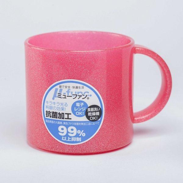 日本製mju-func®妙屋房銀纖維高級抗菌加工潄口杯雙人兩件組(透明白+粉紅UG-MPW)