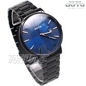 GOTO 萬年不敗 格紋設計 都會風格 日期顯示窗 男錶 不鏽鋼 防水 IP黑電鍍x藍 GS2099M-33-L41