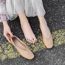 休閒鞋單鞋女春款平底百搭淺口瑪麗珍復古奶奶鞋一腳蹬鞋子鞋女 曼慕衣櫃