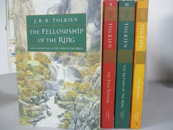 【書寶二手書T1/原文小說_RIM】The Hobbit and the Lord of the Rings_4本合售_托爾金