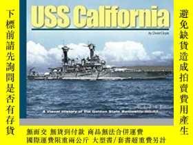 二手書博民逛書店USS罕見California (slight damage)-加州號(輕微損壞)Y414958 出版2