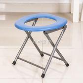 折叠蹲便凳 加固坐便器坐便椅老人殘疾人移動馬桶防滑孕婦蹲便器改折疊家用凳 珍妮寶貝