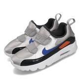 Nike 休閒鞋 Air Max Tiny 90 PS 銀 藍 童鞋 中童鞋 運動鞋 【PUMP306】 881927-017