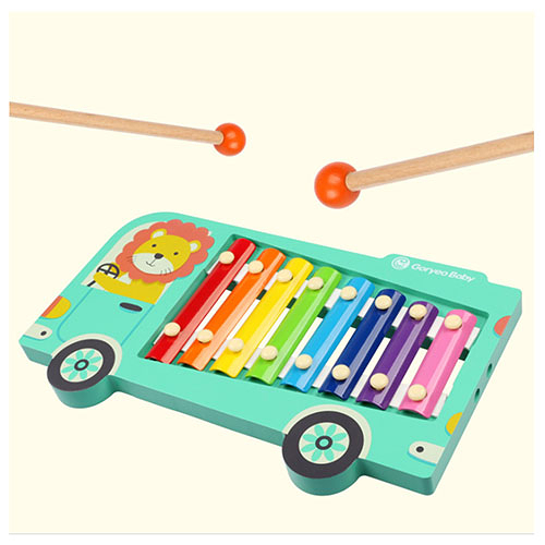 巴士造型敲琴玩具