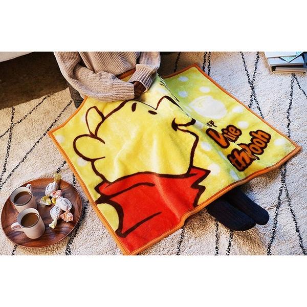 丸真 迪士尼 小熊維尼 多功能毛毯 側臉 黃 70x100cm_RS68757