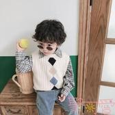 童裝男童毛衣馬甲寶寶針織背心兒童套頭【聚可愛】