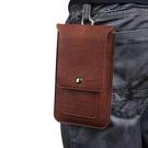 通用薄款雙層插卡腰包5.8寸-6.3寸大屏手機皮套 穿皮帶掛包腰袋男 秋季新品