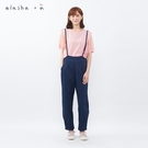 a la sha+a 氣質細肩帶吊帶創意褲
