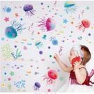 【半島良品】壁貼 DIY創意無痕 牆貼 貼紙-可愛水母 30X45-XL3042