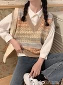 針織馬甲馬夾秋季韓版外穿無袖針織背心馬甲女秋冬寬鬆套頭森系毛衣上衣潮 潮人
