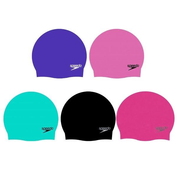 SPEEDO Plain Moulded成人矽膠泳帽(游泳 運動 男女 SD870984