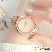 Lacuna.IEKE品牌。輕奢滑鑽設計放射紋金屬鍊帶手錶腕錶【ta076】911 SHOP