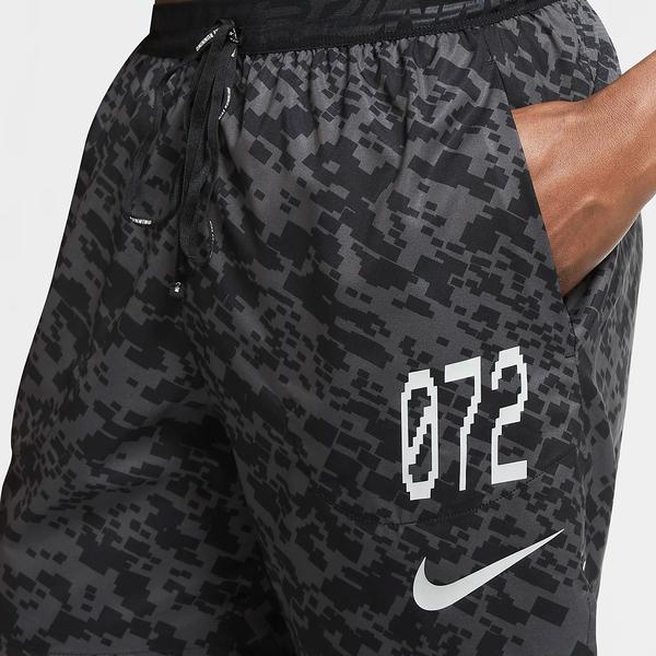 Nike Stride Wild Run 男裝 短褲 慢跑 休閒 印花 口袋 無襯 黑灰【運動世界】CU5722-010