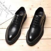 皮鞋 男士商務正裝尖頭男增高加絨綿 糖果時尚