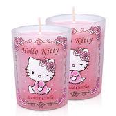 Hello Kitty晨曦玫瑰麝香香氛蠟燭65g(2入)無外盒
