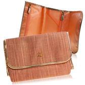 Sisley 希思黎 粉紅鑲金邊化妝包(21x7x14cm)【美麗購】