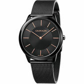 Calvin Klein CK Minimal 極簡米蘭帶手錶-黑/40mm K3M21421