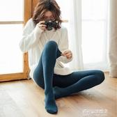 連褲襪-羊毛針織連褲襪女春秋季羊絨豎條紋打底褲中厚薄絨保暖打底襪日繫 多麗絲
