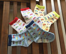 【韓風童品】(3雙/組)男童薄棉襪 兒童棉質襪 汽車圖案防滑襪 嬰幼兒防滑襪子 透氣網眼襪