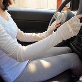 夏季棉質透氣女士長款防曬手套夏天開車防紫外線袖套薄【販衣小築】