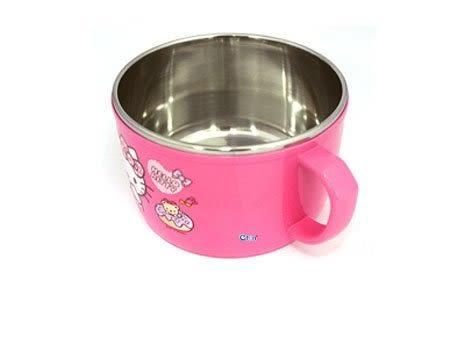 KITTY 304不鏽鋼 雙耳碗 2手碗 湯碗 大碗 600ML 奶爸商城 106511