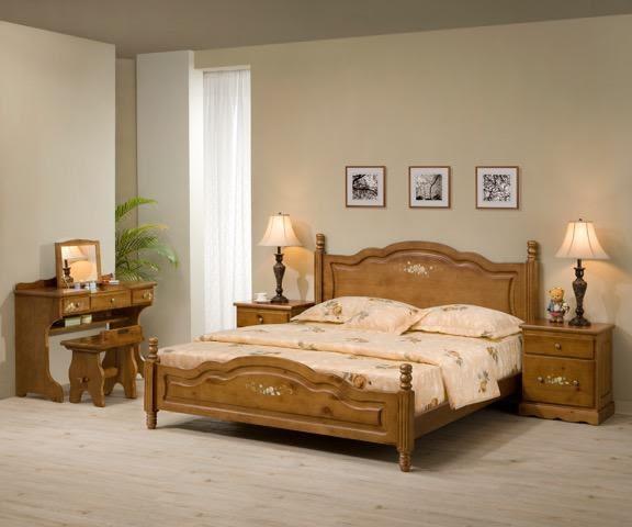 8號店鋪  全實木鄉村風係列 5x6.2尺床 房間組 訂製傢俱~客製化全實木傢俱~~實體店面~工廠直營