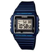【僾瑪精品】CASIO- 方形液晶電子腕錶藍-43mm/ W-215H-2A