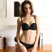 蕾絲內衣套裝(胸罩+內褲)-雙肩帶半罩性感內衣3色73ho37【時尚巴黎】