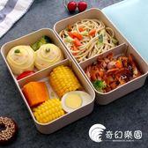 便當盒-健身減脂餐盒分格可愛成人雙層便當盒創意日式飯盒減肥微波爐加熱-奇幻樂園