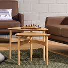 【歐雅系統家具】北歐三角造型組合茶几 / 現成茶几 / 茶几 / 北歐風 / 原木色 / 邊桌