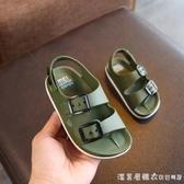 夏季男童鞋英倫2-6歲寶寶童涼鞋兒童防滑涼鞋小童塑料軟底沙灘鞋 【美眉新品】