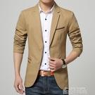 春秋男士休閒西服韓版修身潮流上衣青年帥氣小西裝單西薄款外套男 依凡卡時尚