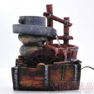 流水噴泉工藝品田園風格加濕器