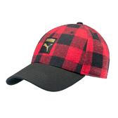 Puma 紅色 格紋 運動帽 老帽 遮陽帽 透氣 排汗 運動 六分割帽 棒球帽 運動帽 02215101