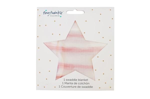 美國tiny twinkle Swaddle Blanket Single 紗布巾單入-動物