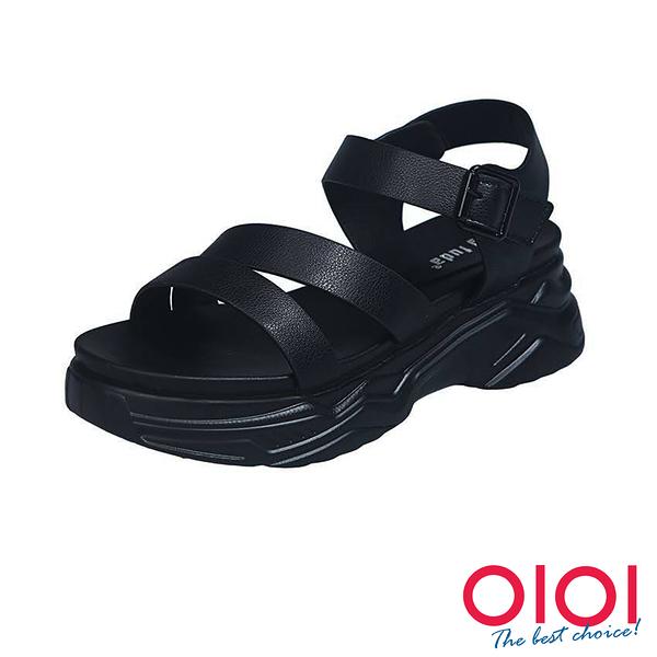 涼鞋 夏日清新微甜厚底涼鞋(黑)*0101shoes【18-A808bk】【現貨】