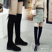 馬丁靴  2018秋冬百搭過漆長靴子平底粗跟內增高長筒女靴高筒顯瘦女鞋子