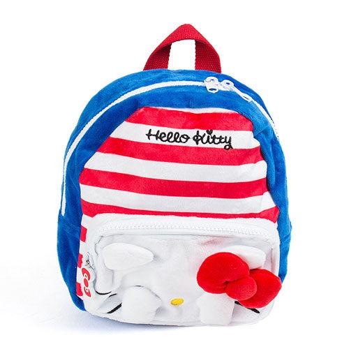 【震撼精品百貨】Hello Kitty 凱蒂貓~HELLO KITTY躲貓貓造型小童用迷你絨毛後背包S(圓) 10446