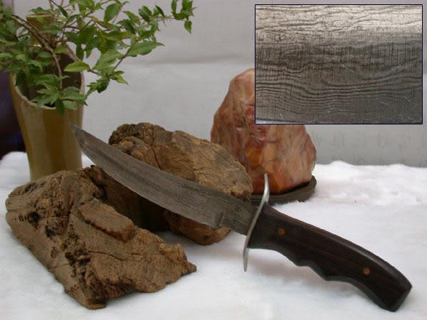 郭常喜與興達刀具--積層花紋鋼手工製作-小獵刀(60110)