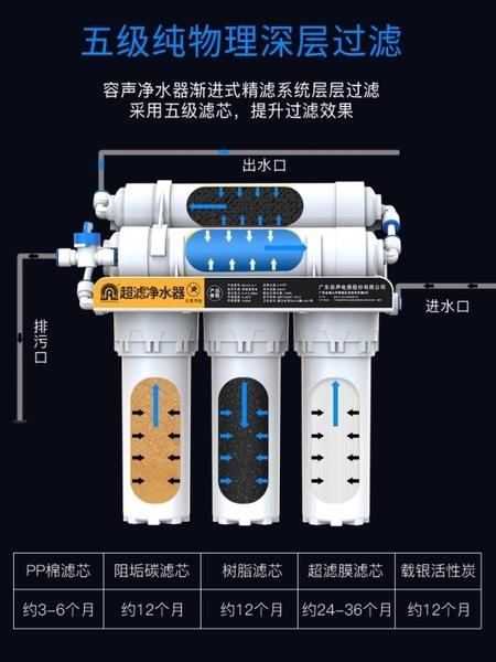 淨水器 凈水器家用直飲廚房自來水過濾器廚下濾水器五級超濾凈水機 萬寶屋