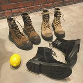 馬丁靴女英倫風學生棉鞋百搭短筒短靴 糖果時尚